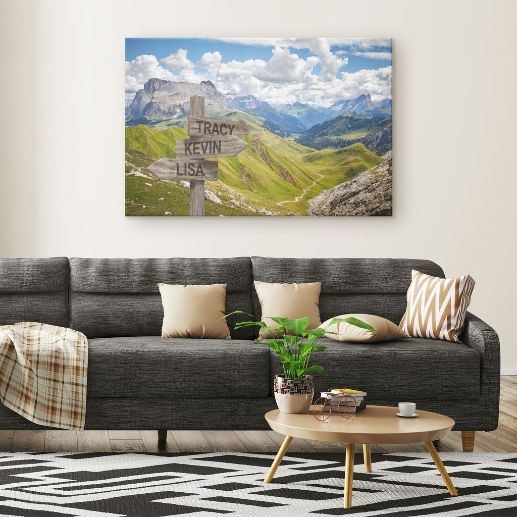 Customized Mountains Canvas Canvas Wall Art 3 teelaunch