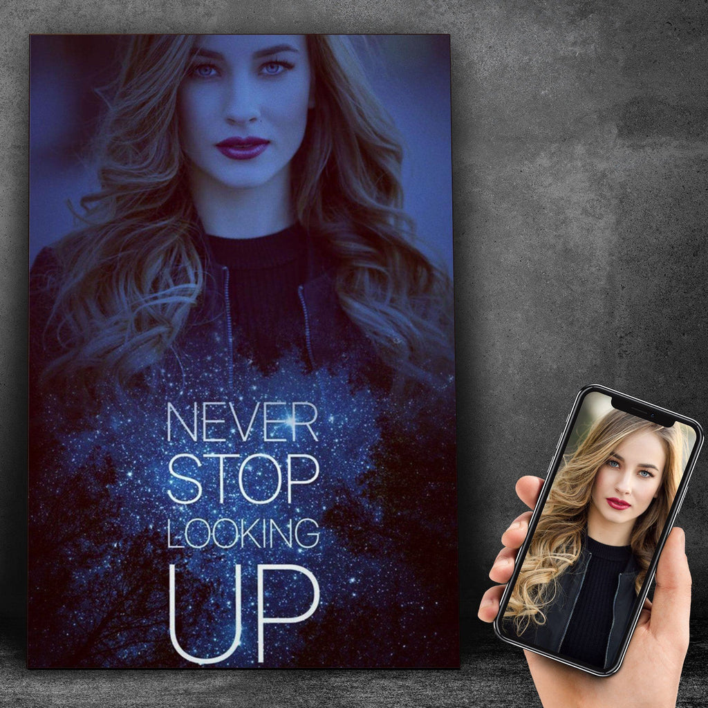 Customized Never Stop Looking Up Canvas Canvas Wall Art 2 teelaunch