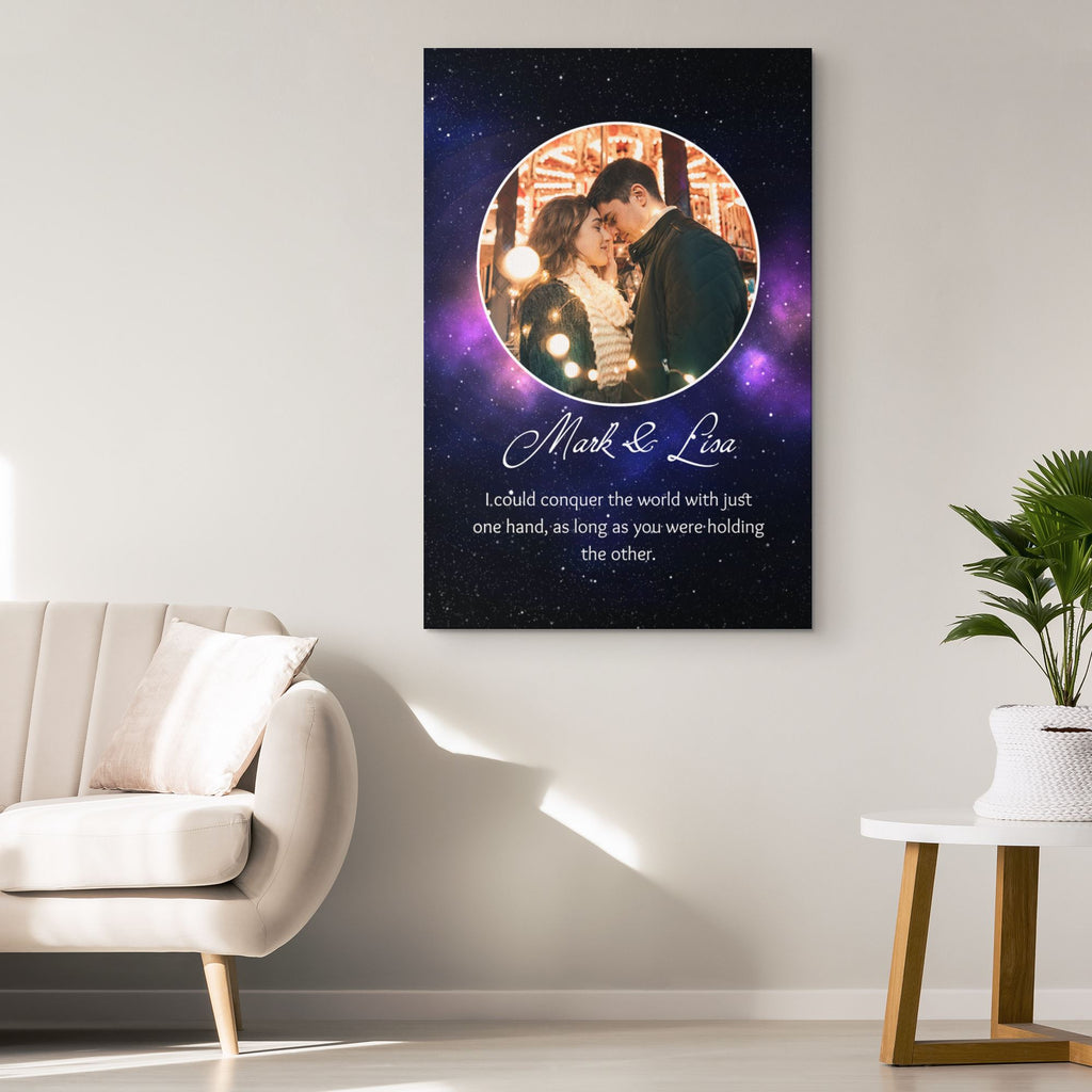 Customized Romantic Canvas - Conquer the world Canvas Wall Art 2 teelaunch