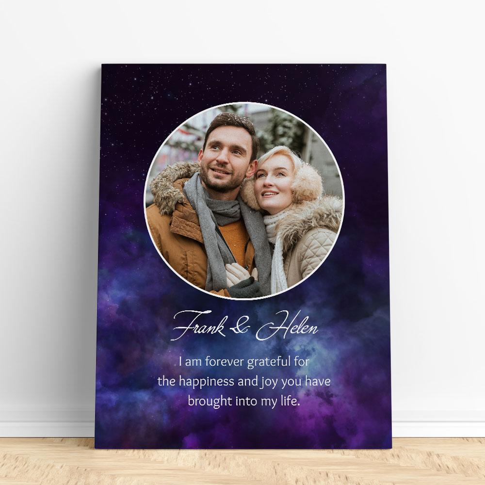 Customized Romantic Canvas - Forever grateful Canvas Wall Art 2 teelaunch