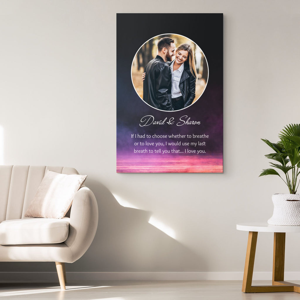 Customized Romantic Canvas - Had to choose Canvas Wall Art 2 teelaunch