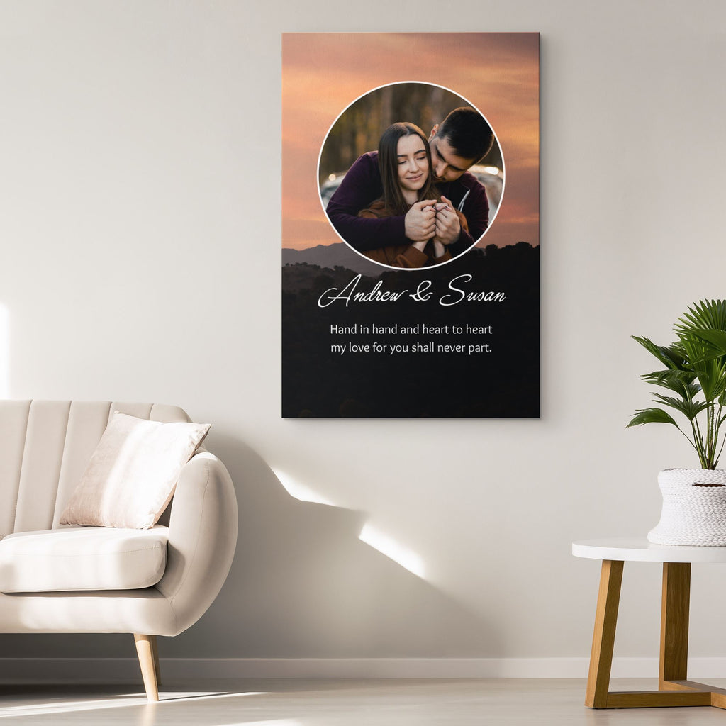 Customized Romantic Canvas - Hand in hand Canvas Wall Art 2 teelaunch