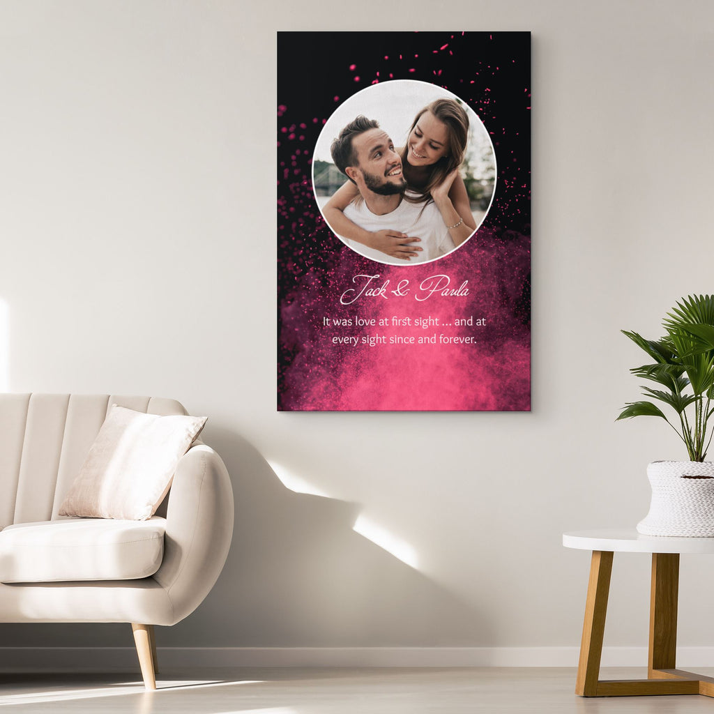 Customized Romantic Canvas - Love at first sight Canvas Wall Art 2 teelaunch
