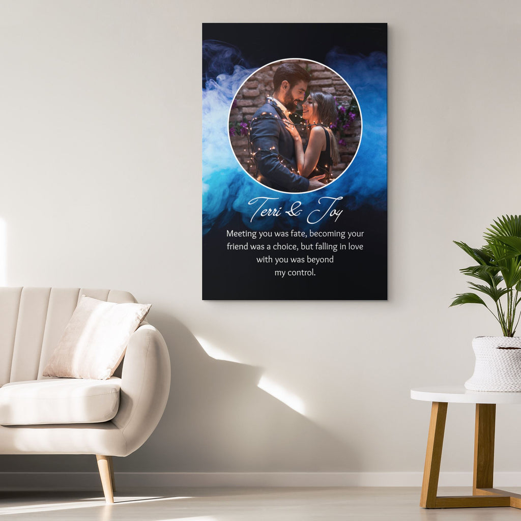 Customized Romantic Canvas - Meeting you Canvas Wall Art 2 teelaunch