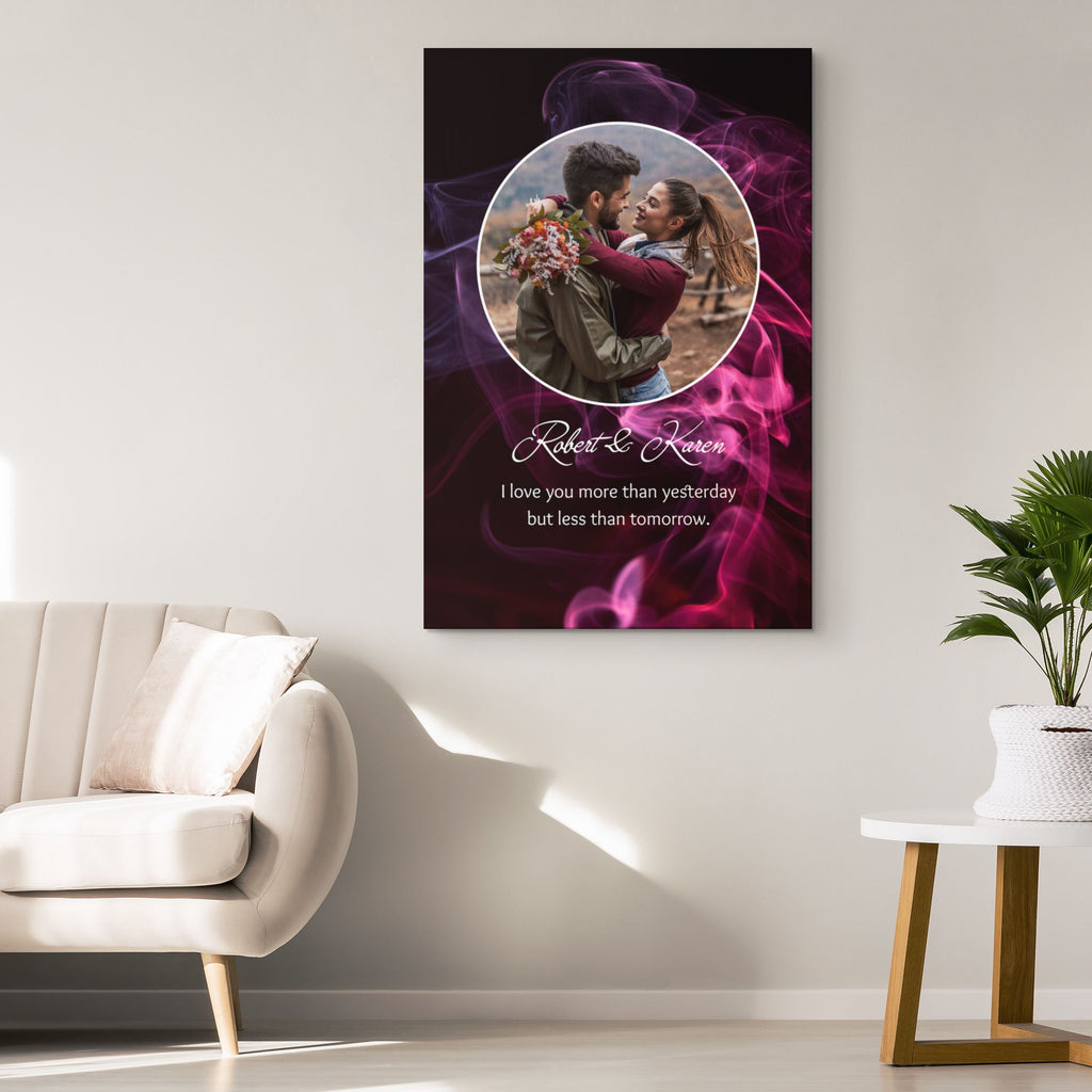 Customized Romantic Canvas - More than yesterday Canvas Wall Art 2 teelaunch