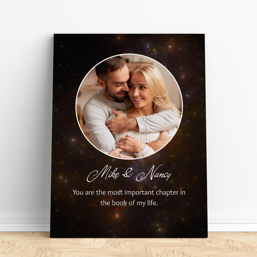 Customized Romantic Canvas - Most important chapter Canvas Wall Art 2 teelaunch