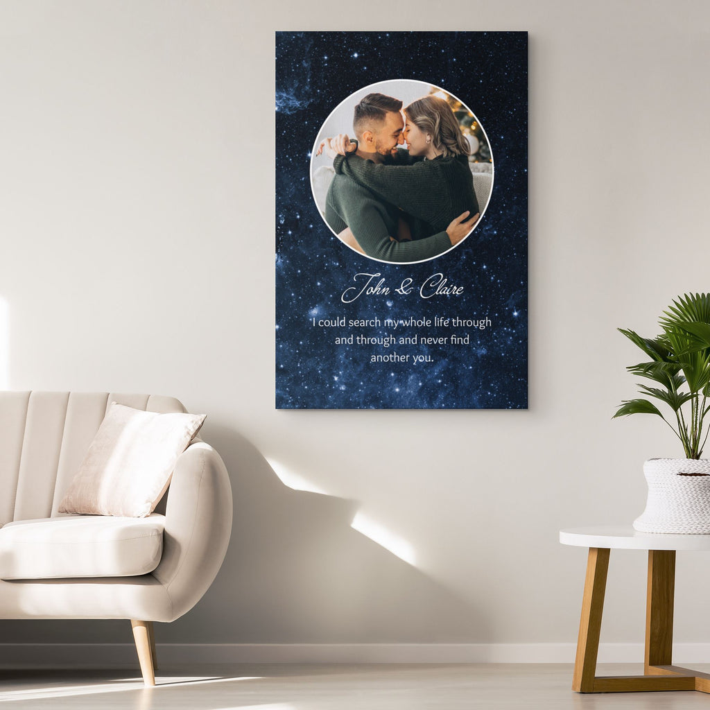 Customized Romantic Canvas - Never find another you Canvas Wall Art 2 teelaunch