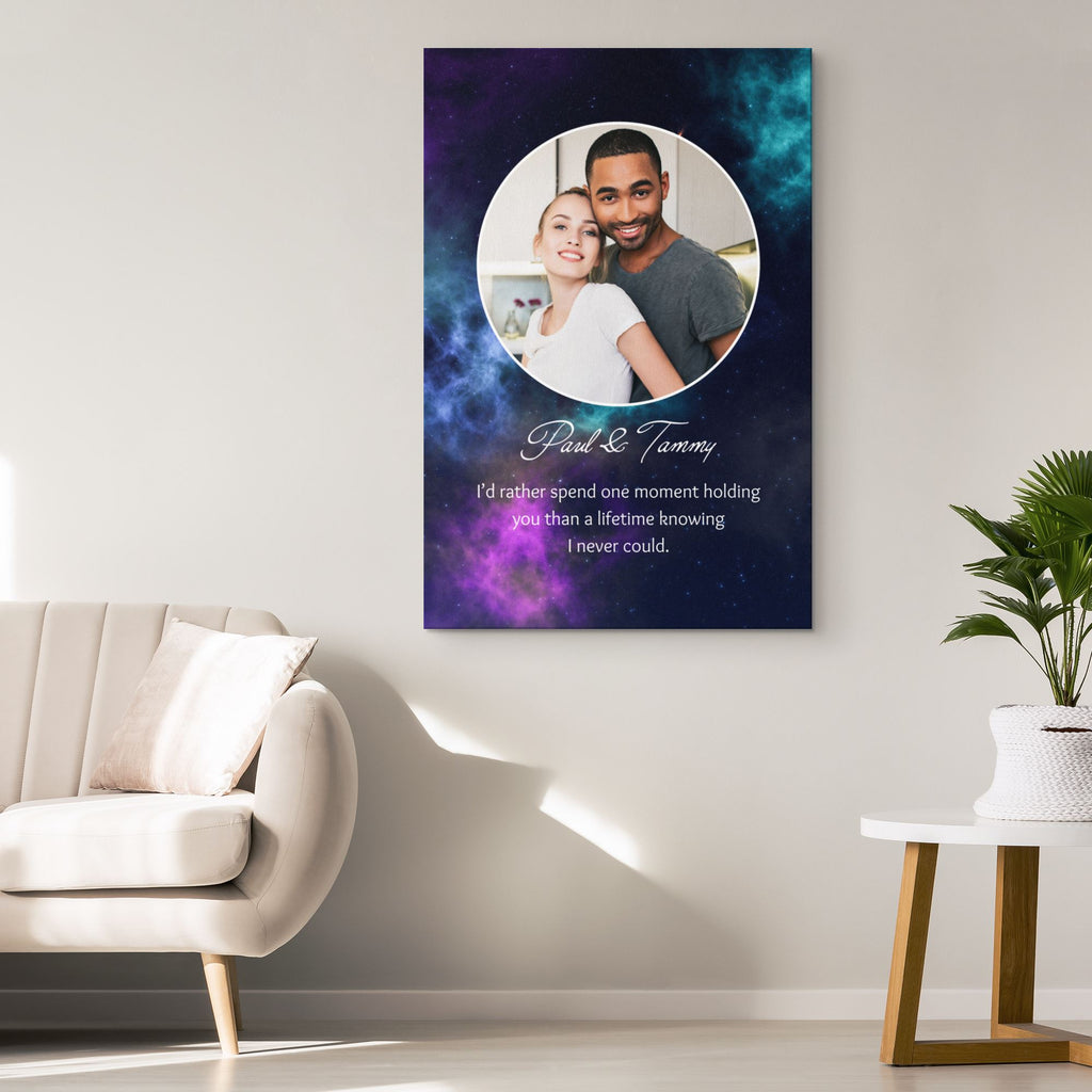Customized Romantic Canvas - Spend one moment Canvas Wall Art 2 teelaunch
