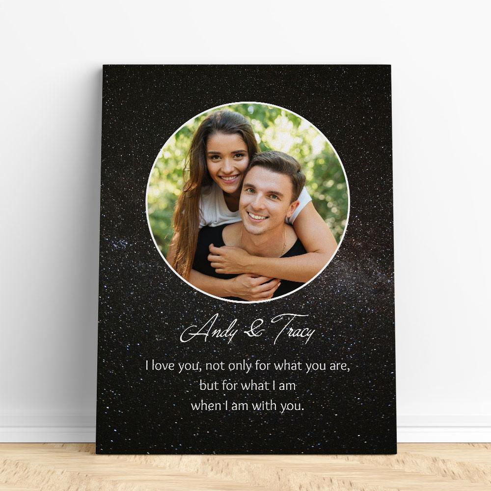 Customized Romantic Canvas - When I am with you Canvas Wall Art 2 teelaunch