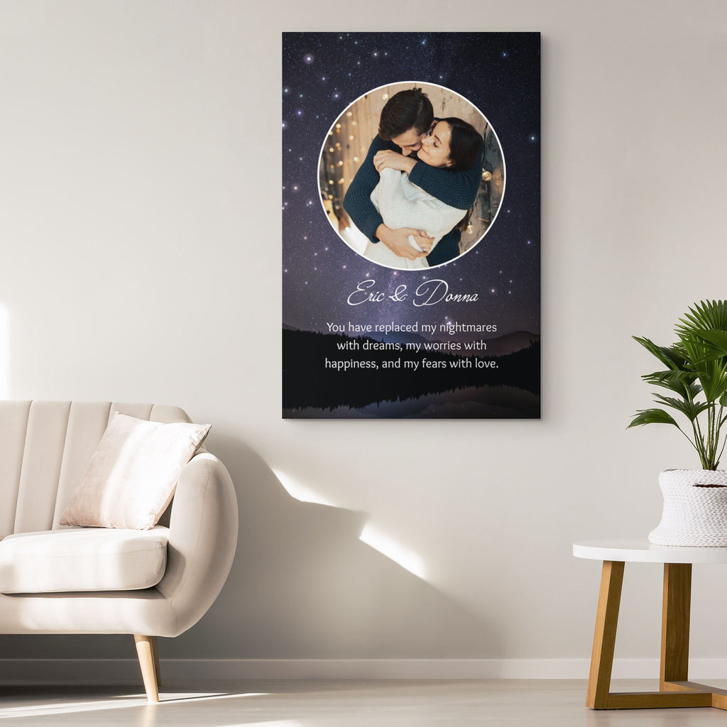 Customized Romantic Canvas - You have replaced Canvas Wall Art 2 teelaunch