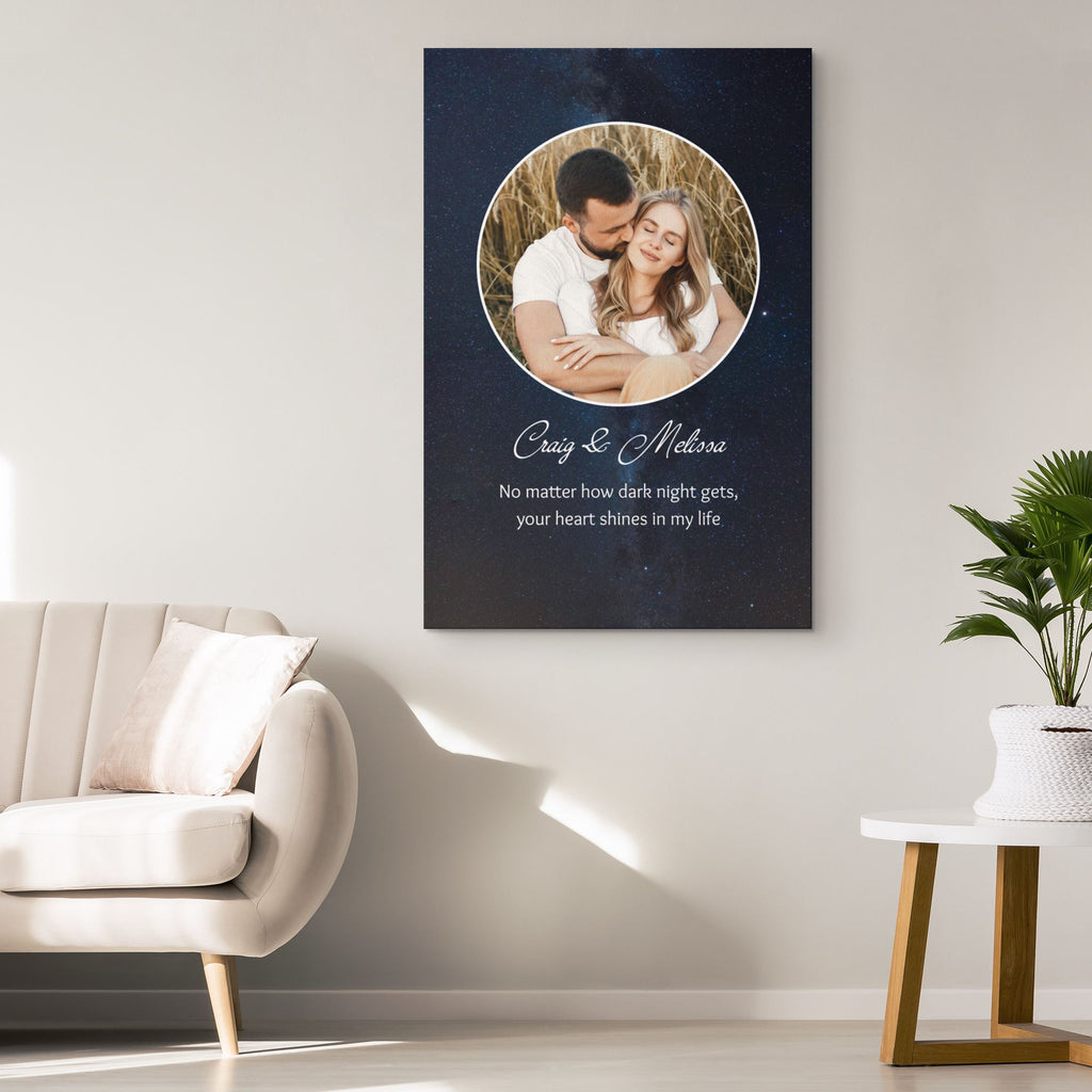 Customized Romantic Canvas - Your heart shines Canvas Wall Art 2 teelaunch
