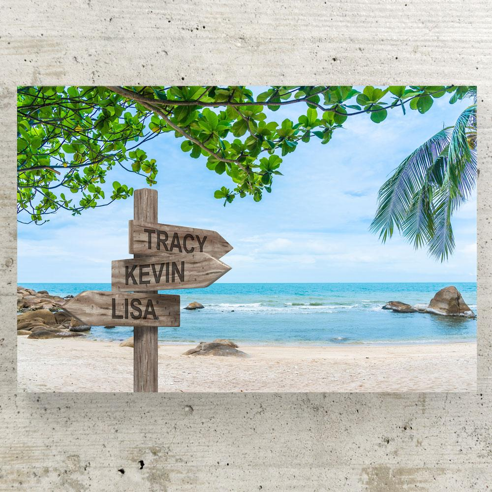Customized Tropical Beach Canvas Canvas Wall Art 3 teelaunch
