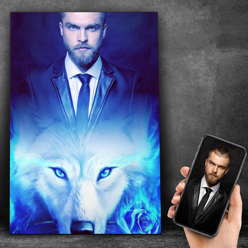 Customized White Wolf Canvas Canvas Wall Art 2 teelaunch