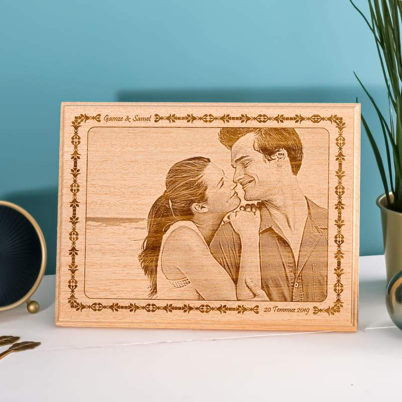 Personalized Anniversary Couple Wooden Photo Custom Fairy