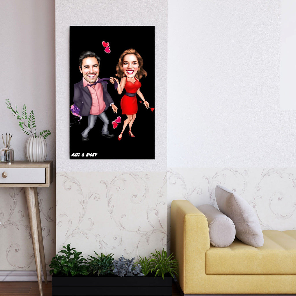 Romantic Funny Personalized Couple Wooden Wall Art Gifts