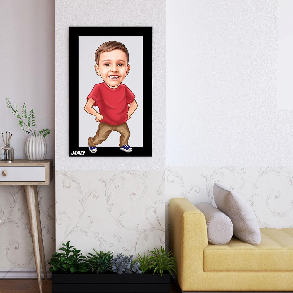 Personalized Cartoon Boy Wooden Wall Art Custom Fairy