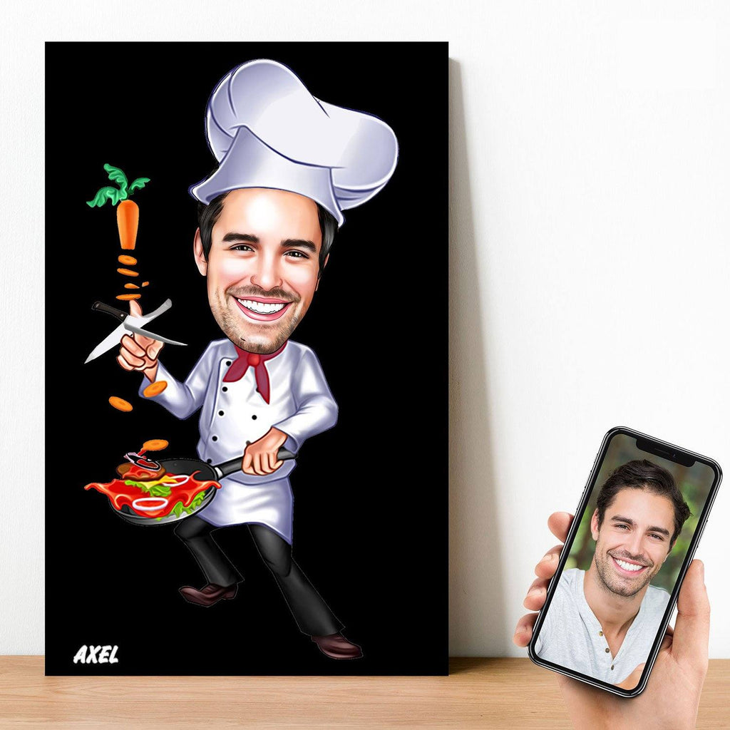 Personalized Cartoon Chef Wooden Wall Art Wooden Wall Art Custom Fairy