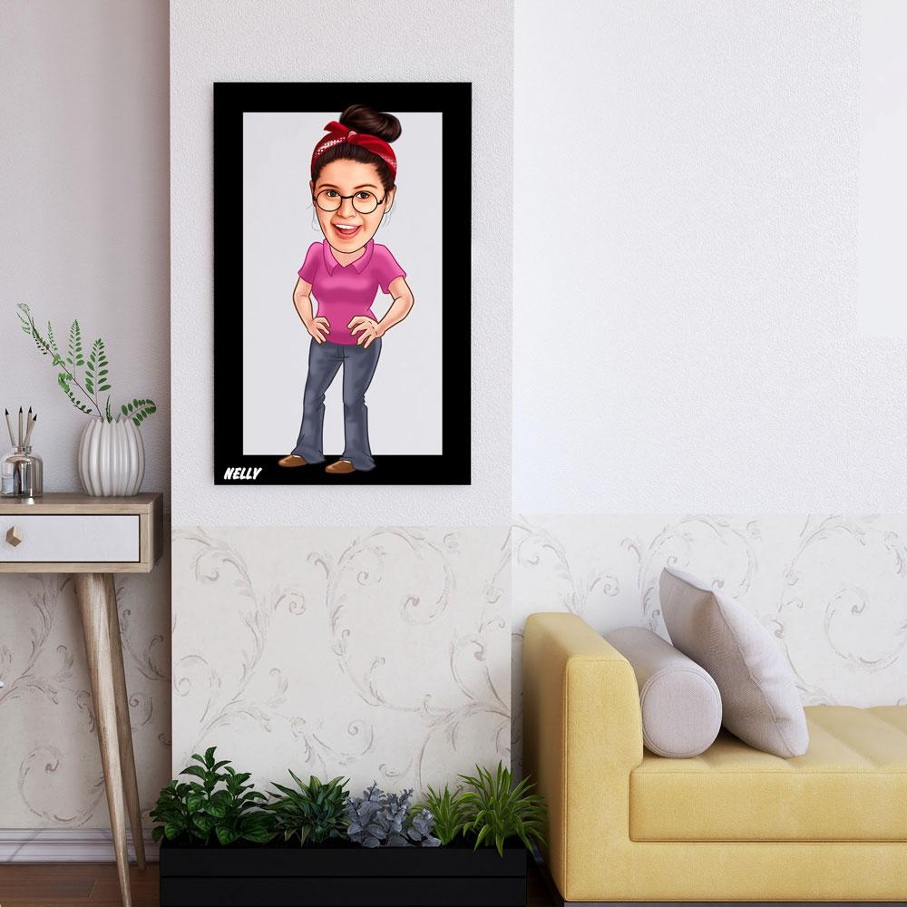 Personalized Cartoon Female Wooden Wall Art Custom Fairy