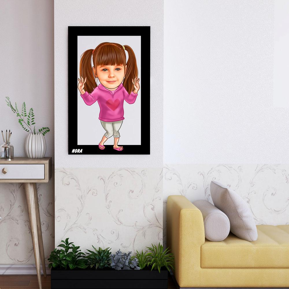 Personalized Cartoon Girl Wooden Wall Art Custom Fairy