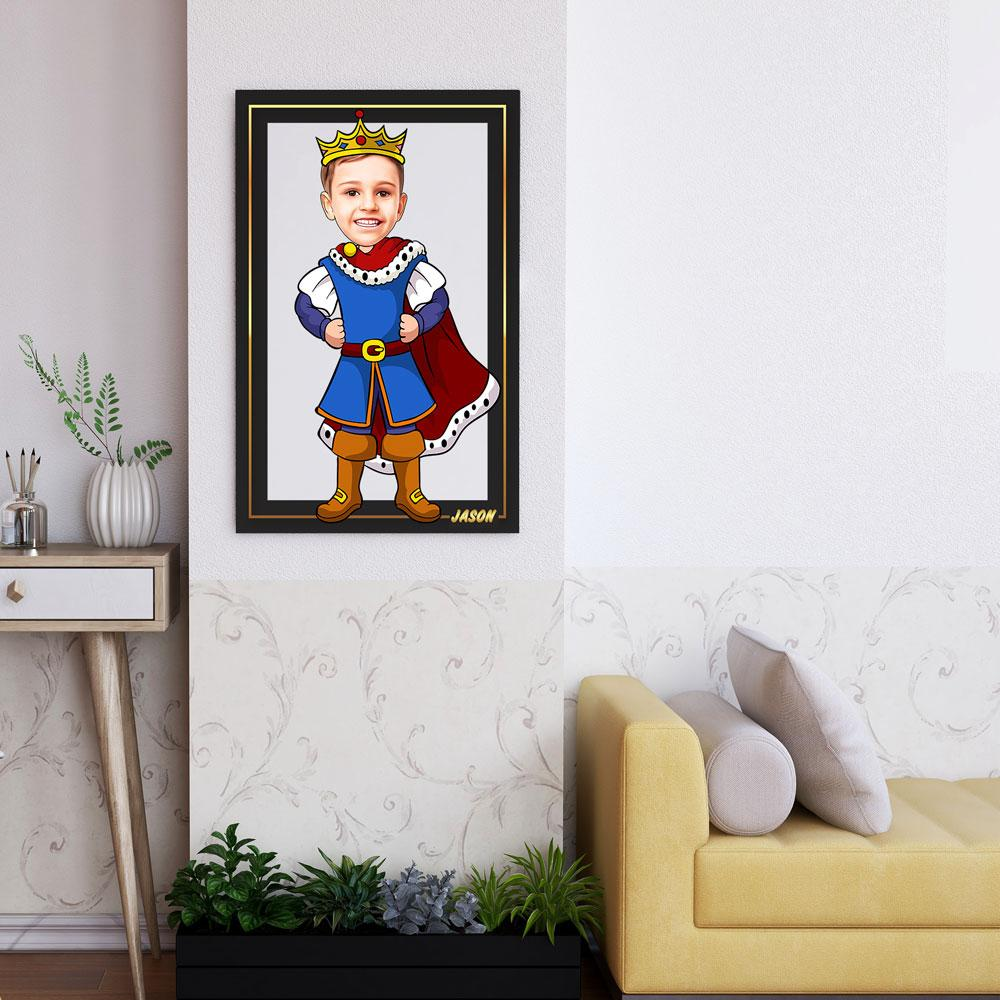 Personalized Cartoon Little Prince Wooden Wall Art Custom Fairy