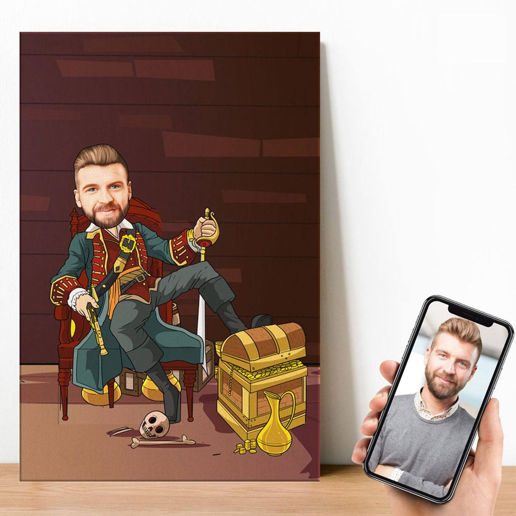Personalized Cartoon Pirate Canvas Canvas Wall Art 2 teelaunch