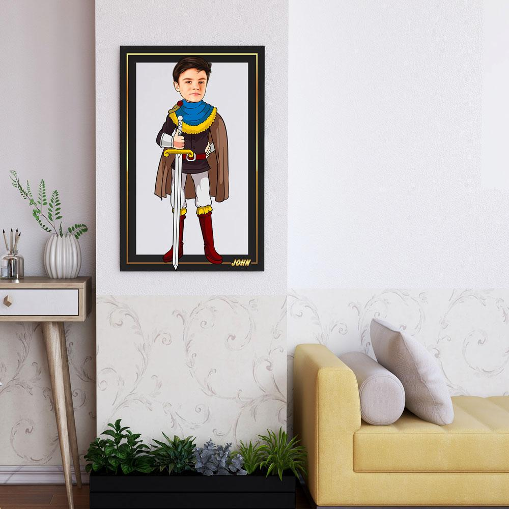 Personalized Cartoon Prince Wooden Wall Art Custom Fairy