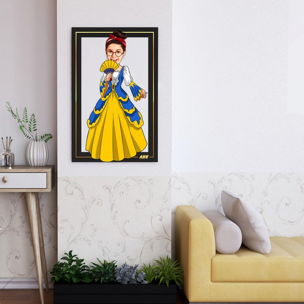 Personalized Cartoon Princess Wooden Wall Art Custom Fairy