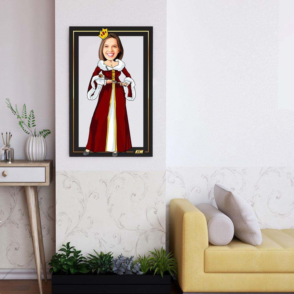 Personalized Cartoon Queen Wooden Wall Art Custom Fairy