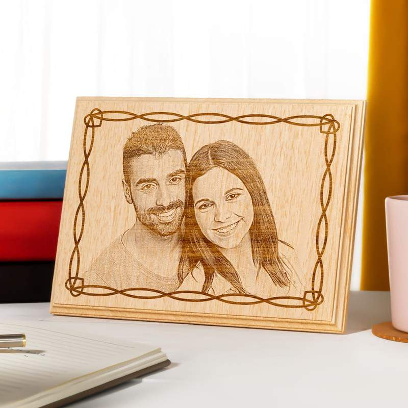 Personalized Couple Wooden Photo Custom Fairy