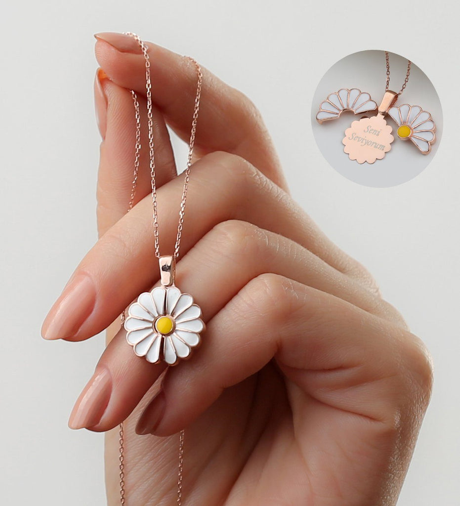 Personalized Daisy Name Necklace Custom Fairy