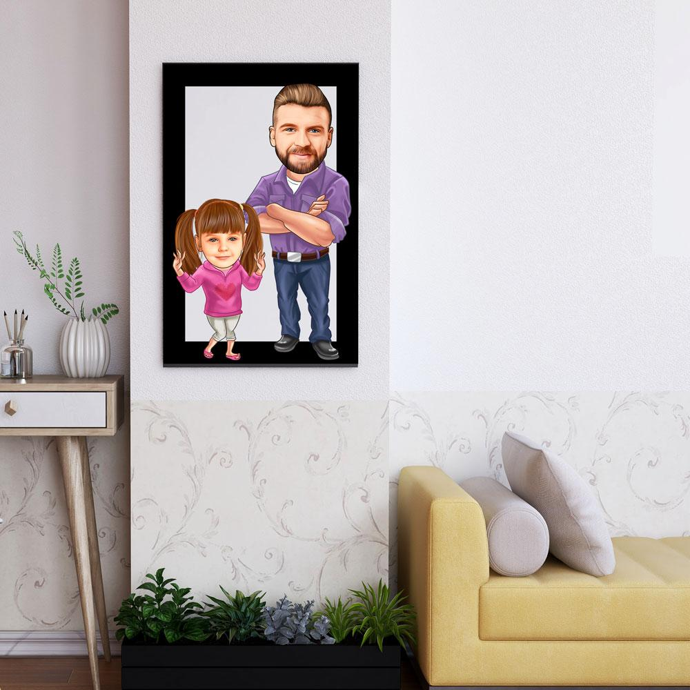 Personalized Family Cartoon Wooden Wall Art 11 Custom Fairy