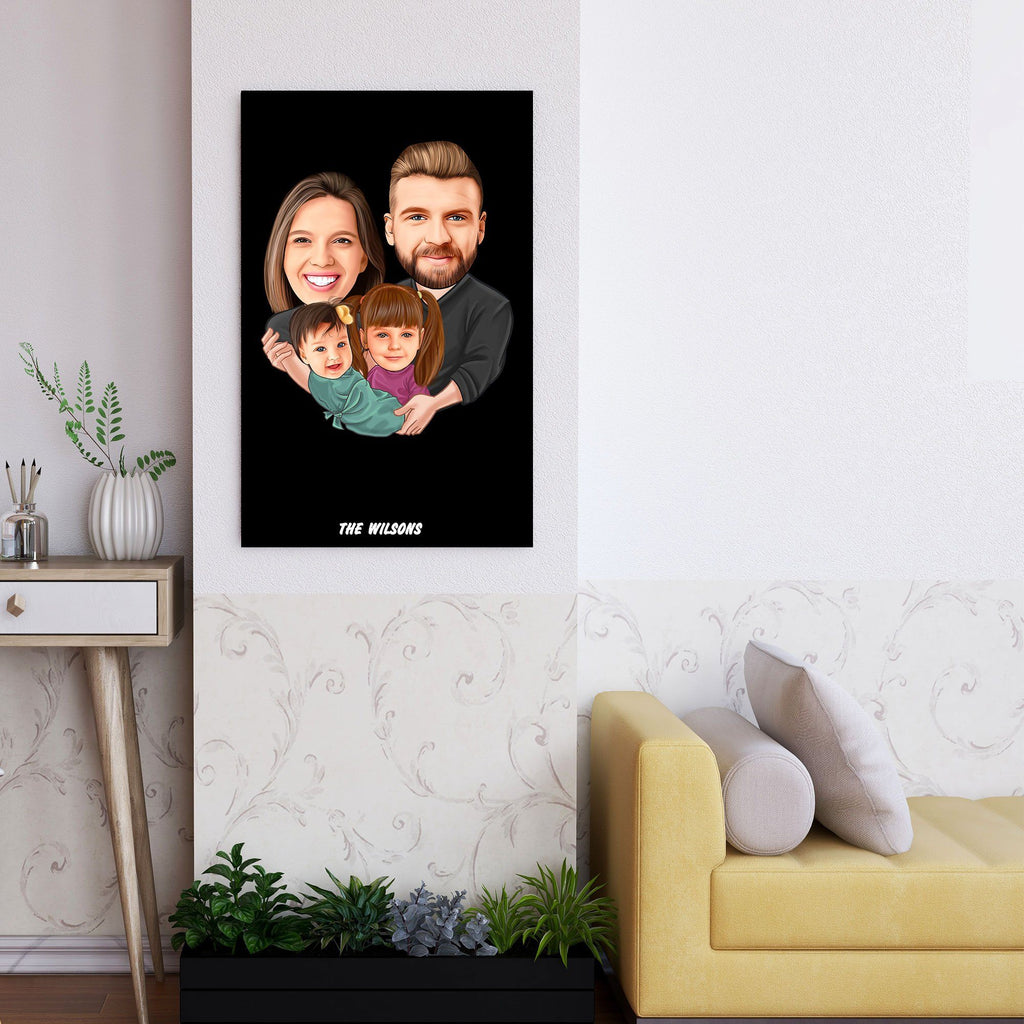 Personalized Family Cartoon Wooden Wall Art 3 Custom Fairy