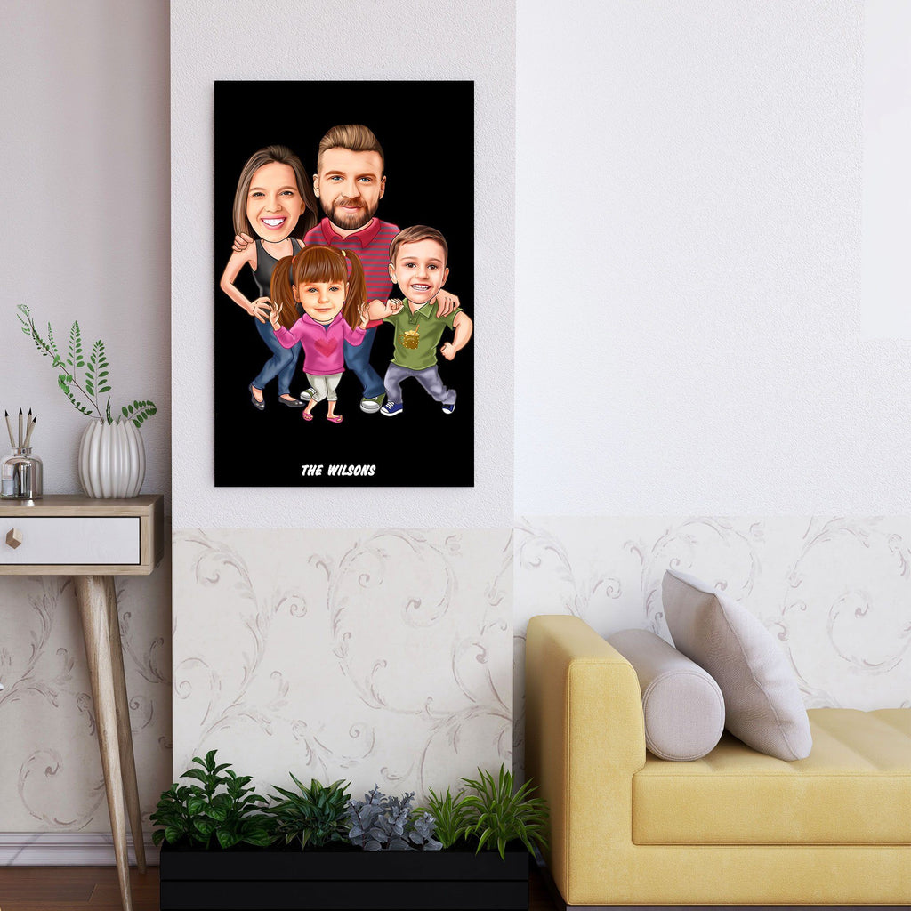 Personalized Family Cartoon Wooden Wall Art 5 Custom Fairy