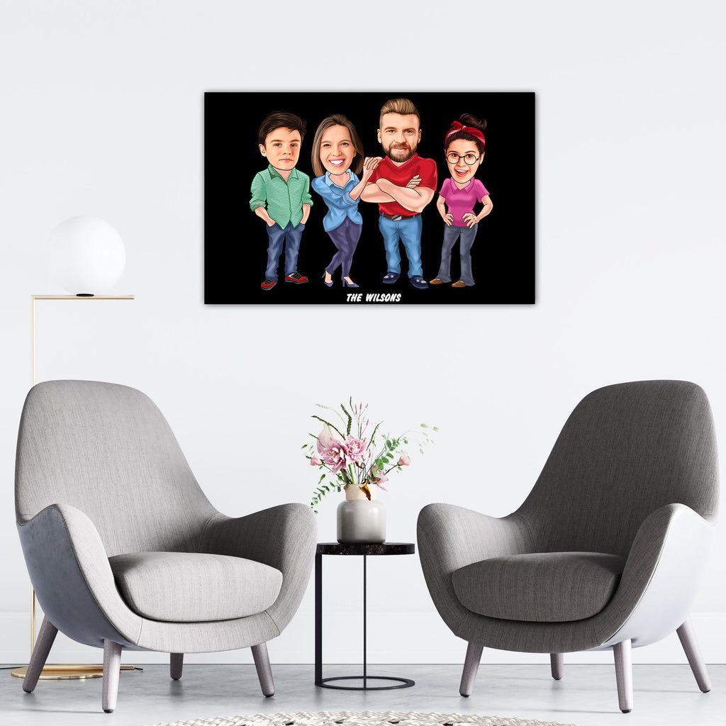 Personalized Family Cartoon Wooden Wall Art 7 Custom Fairy
