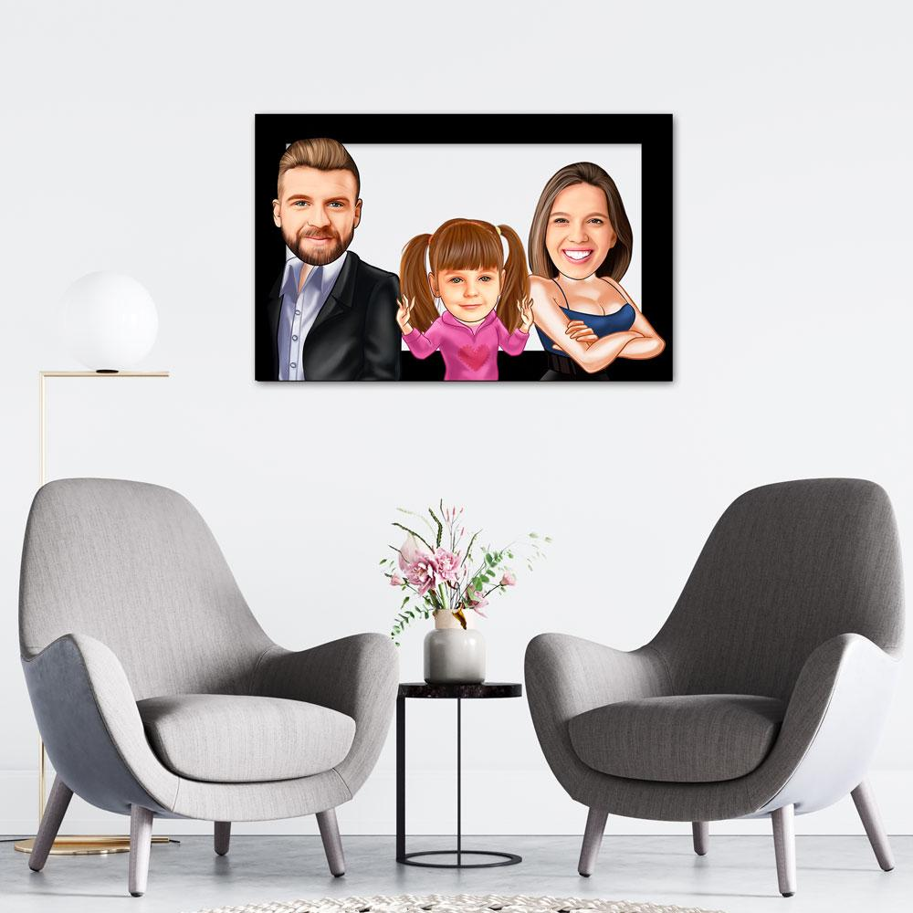 Personalized Family Cartoon Wooden Wall Art 9 Custom Fairy