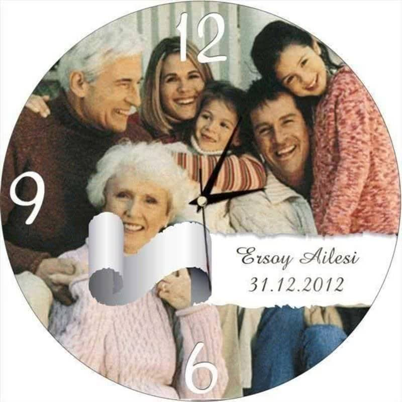 Personalized Family Wall Clock Custom Fairy