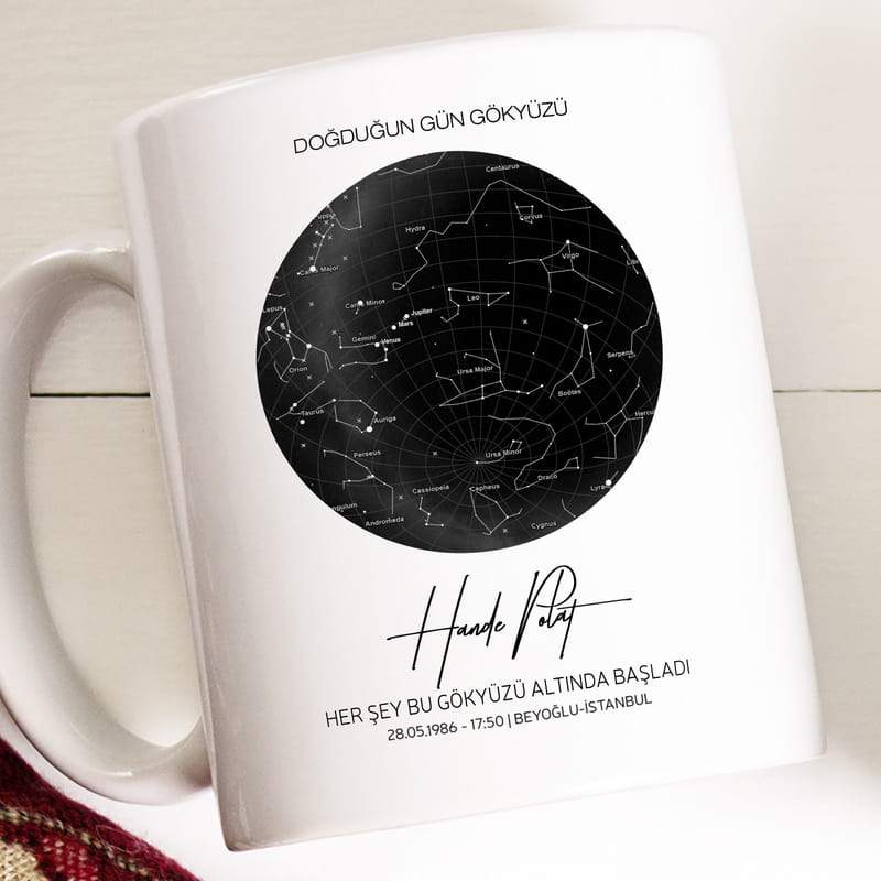 Personalized Special Day Stars Map Mug Custom Fairy