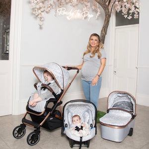 PRE-ORDER NOW Dani Dyer Rose Gold Marble Belgravia Travel System