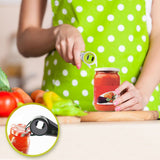 Can Opener Black Five-in-one Multi-function Can Opener Steamed Beer Healthy Safe Gourd-shaped Can Opener