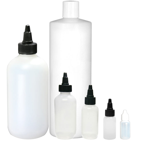Boston Round Ink Bottles and Tops