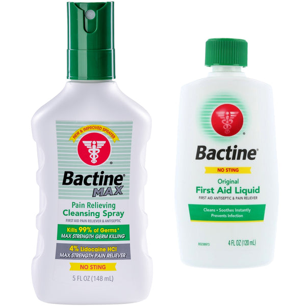 Bactine Max - Cleansing Spray & Liquid