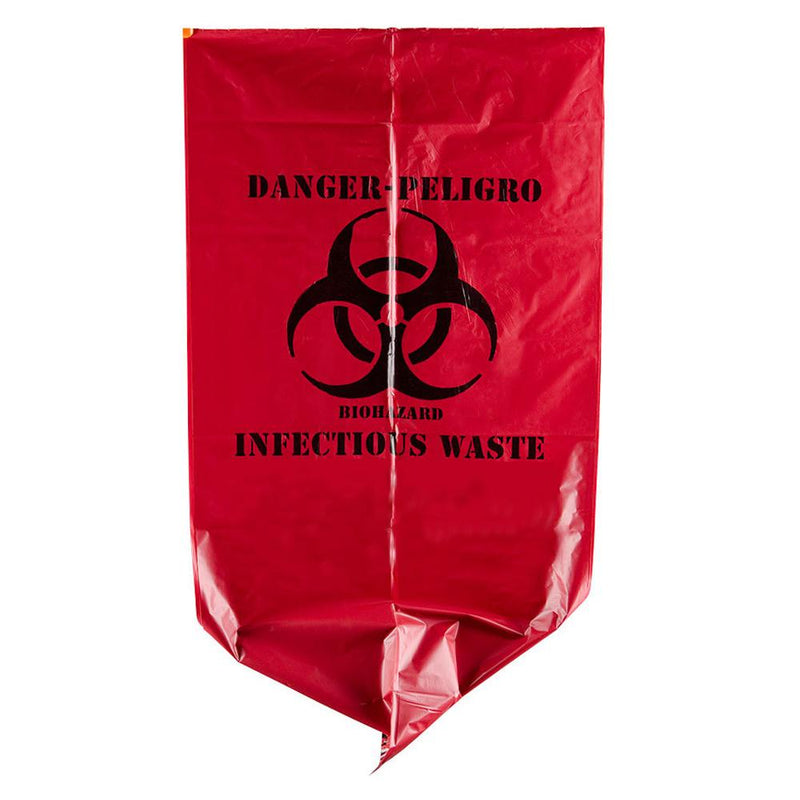 "Bio-Hazardous Waste Bag - 10 Gallon 24"" x 24"""