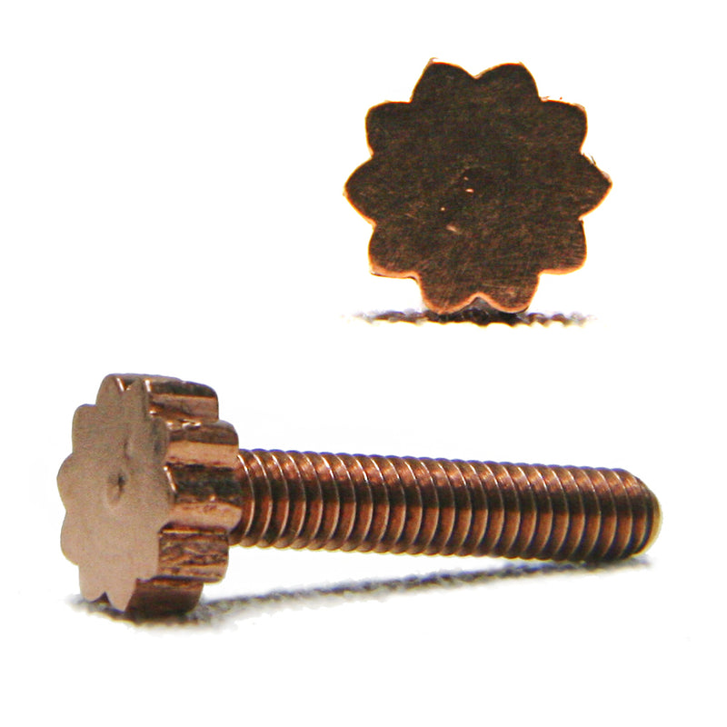 Custom copper contact screw sunburst - TL 1.007