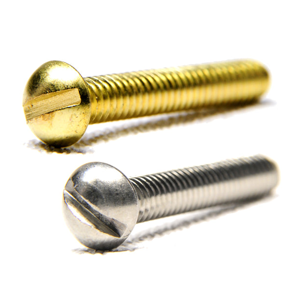Round head slotted screws  1""