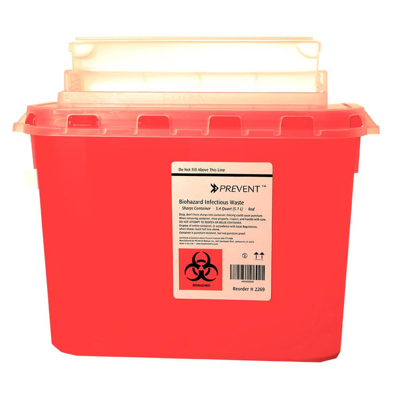 5.4 QT Sharps Container in Wall Mount