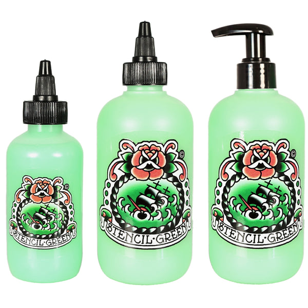 "4oz and 8oz Stencil Greenâ""¢"