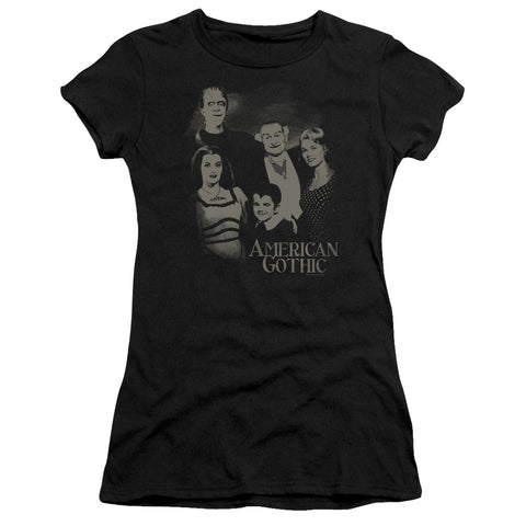 The Munsters - American Gothic Short Sleeve Junior Sheer