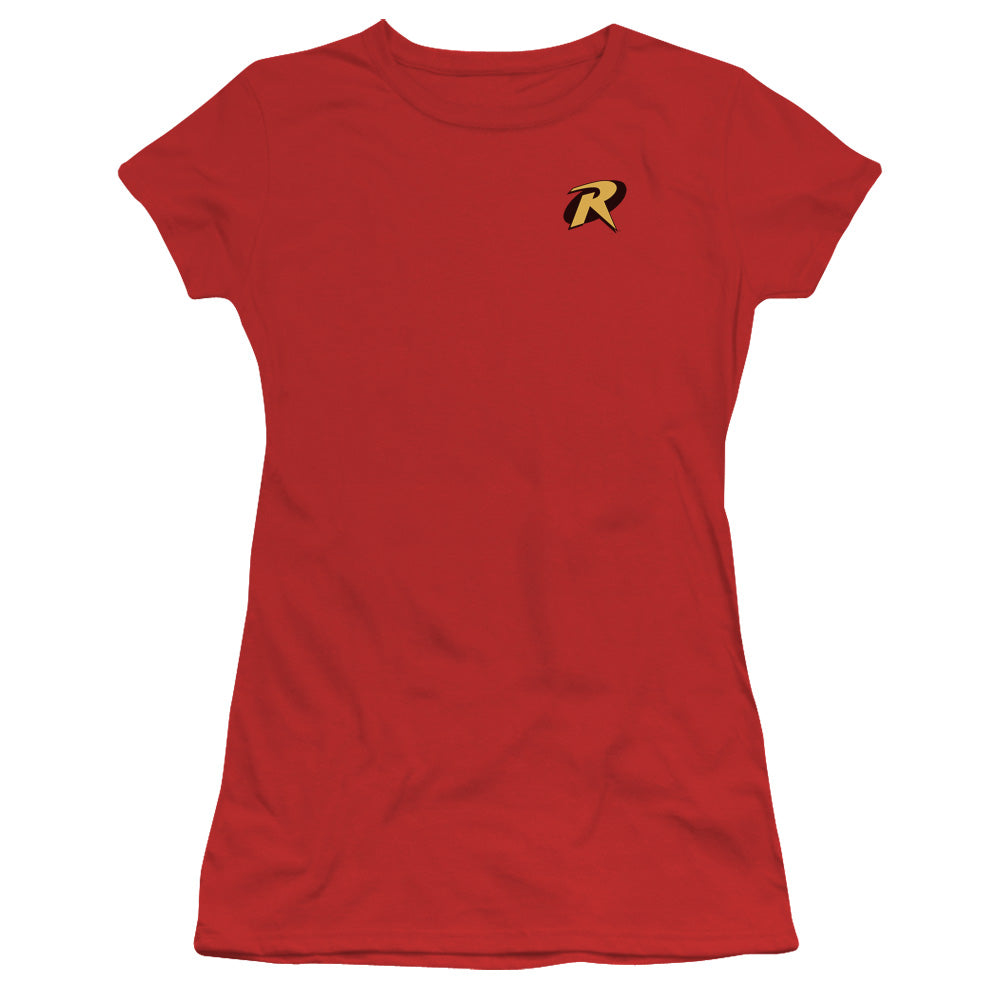 Batman - Robin Logo Short Sleeve Junior Sheer