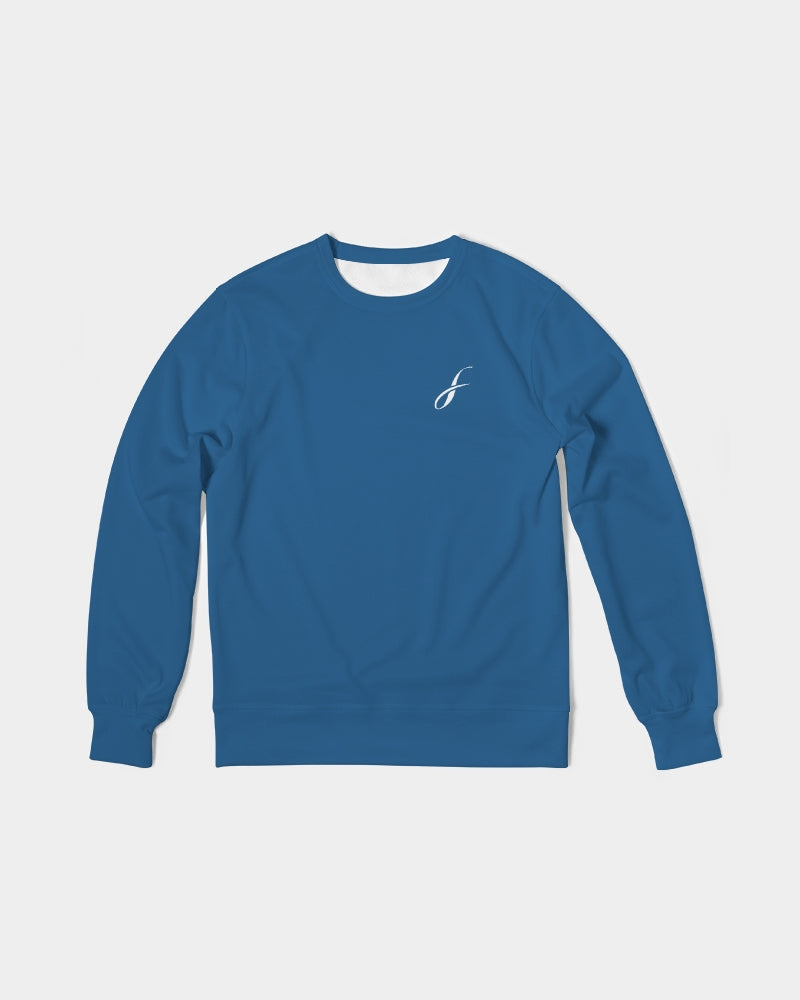 Figaro Classic Blue Men's Classic French Terry Crewneck Pullover