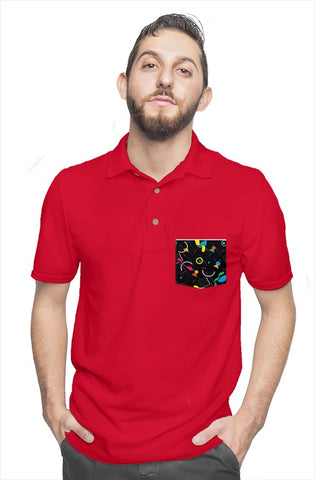 FIGARO Retro Red Polo